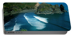 Portable Battery Charger featuring the photograph Lion Beach Piha New Zealand by Mark Dodd
