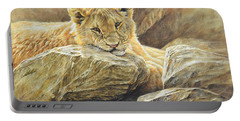 Lion Cub Study Portable Battery Charger