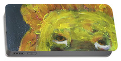 Portable Battery Charger featuring the painting Lion Family Part 1 by Donald J Ryker III
