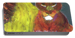 Portable Battery Charger featuring the painting Lion Family Part 6 by Donald J Ryker III