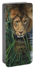 Lion Grass And Water Portable Battery Charger