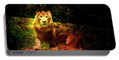 Lion In The Wilderness Portable Battery Charger
