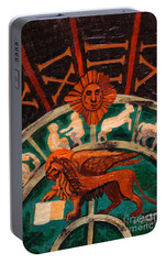 Portable Battery Charger featuring the painting Lion Of St. Mark by Genevieve Esson