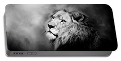 Lion - Pride Of Africa II - Tribute To Cecil In Black And White Portable Battery Charger