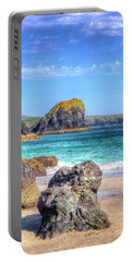 Lion Rock From Kynance Cove Portable Battery Charger