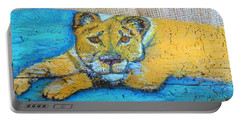 Lioness Portable Battery Charger by Ann Michelle Swadener