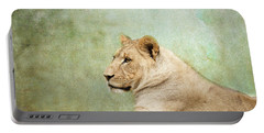 Lioness Portrait II Portable Battery Charger by Wade Brooks