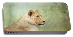 Lioness Portrait Portable Battery Charger by Wade Brooks