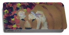 Portable Battery Charger featuring the painting Lioness Pride 1 Of 6 by Donald J Ryker III