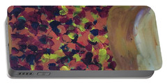 Portable Battery Charger featuring the painting Lioness' Pride 2 Of 6 by Donald J Ryker III