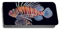 Lionfish In Black Portable Battery Charger