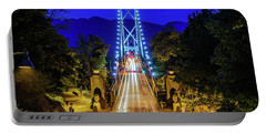 Lions Gate Bridge At Night Portable Battery Charger