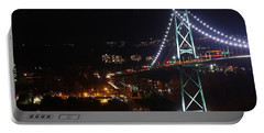 Lions Gate Bridge And Grouse Mountain Portable Battery Charger