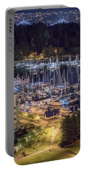 Lions Gate Bridge And Stanley Park Portable Battery Charger by Ross G Strachan