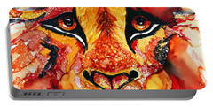Lion's Head  Red Portable Battery Charger