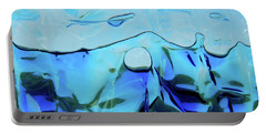 Portable Battery Charger featuring the photograph Liquid Abstract  #0059 by Barbara Tristan