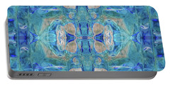 Portable Battery Charger featuring the digital art Liquid Abstract  #0060-1 by Barbara Tristan
