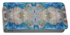 Portable Battery Charger featuring the digital art Liquid Abstract  #0060-2 by Barbara Tristan