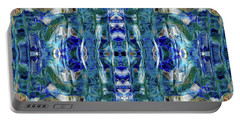 Portable Battery Charger featuring the digital art Liquid Abstract #0061-2 by Barbara Tristan