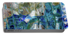 Portable Battery Charger featuring the photograph Liquid Abstract #0061 by Barbara Tristan