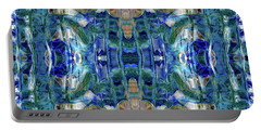 Portable Battery Charger featuring the digital art Liquid Abstract #0061_1 by Barbara Tristan
