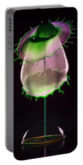 Liquid Art Impression With Bubble Portable Battery Charger
