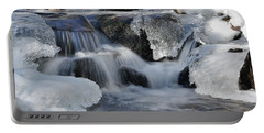 Portable Battery Charger featuring the photograph Winter Waterfall In Maine by Glenn Gordon