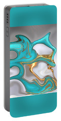Liquid  Turquoise Portable Battery Charger