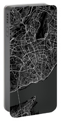 Lisbon Portugal Dark Map Portable Battery Charger
