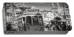 Lisbon Tram Bw Portable Battery Charger