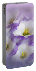 Portable Battery Charger featuring the photograph Lisianthus Grouping by David and Carol Kelly