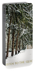 Portable Battery Charger featuring the photograph Listen To The Quiet by Sandy Moulder