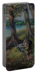 Listening To The Tales Of The Trees Portable Battery Charger