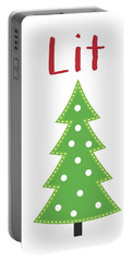 Lit Christmas Tree- Art By Linda Woods Portable Battery Charger