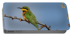 Portable Battery Charger featuring the photograph Little Bee-eater by Betty-Anne McDonald