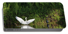 Little Blue Heron Non-impressed Portable Battery Charger