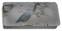 Little Blue Heron Walking Portable Battery Charger by Christiane Schulze Art And Photography