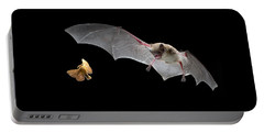 Little Brown Bat Hunting Moth Portable Battery Charger