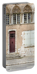 Portable Battery Charger featuring the photograph Little Brown Door by Melanie Alexandra Price