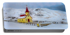 Little Church In The Mountains Portable Battery Charger