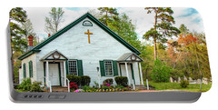 Portable Battery Charger featuring the photograph Little Church In The Pines by Kristia Adams