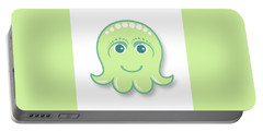 Little Cute Green Octopus Portable Battery Charger