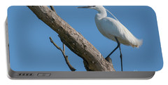 Little Egret Portable Battery Charger by Jivko Nakev