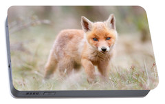 Little Fox Kit, Big World Portable Battery Charger by Roeselien Raimond