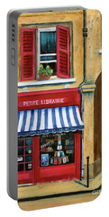 Little French Book Store Portable Battery Charger