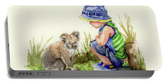 Little Friends Watercolor Portable Battery Charger