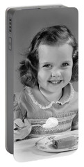 Little Girl Eating Ice Cream, C.1950s Portable Battery Charger