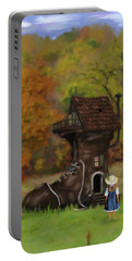 Little Girl Who Lived In A Shoe Portable Battery Charger by Mary Timman