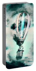 Little Hot Air Balloon Pendant And Clouds Portable Battery Charger