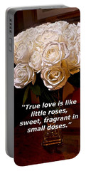 Portable Battery Charger featuring the painting Little Love Roses by Joan Reese
